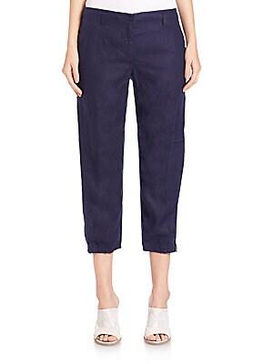 Linen Cargo Pants