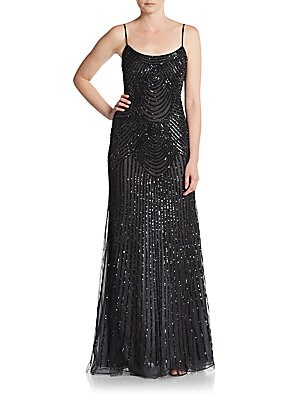 Sequined Trumpet Gown