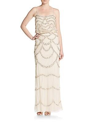 Sequin Blouson Bridesmaid Gown