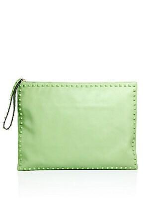 Solid Stud Trimmed Handbag