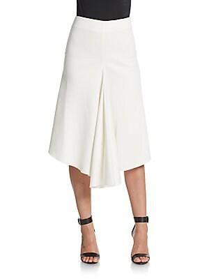 Ponte Drape-Front Skirt