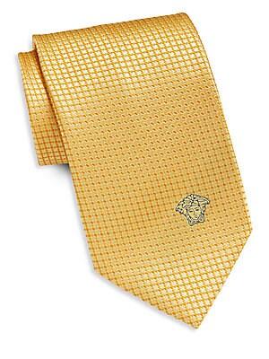 Grid Neat Silk Tie