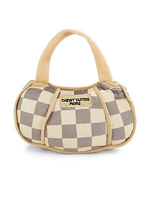 Chewy Vuitton Checker Handbag