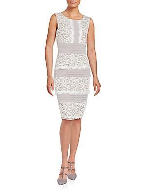Contrast Lace Pattern Dress