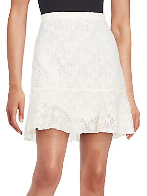 Floral A-Line Lace Skirt