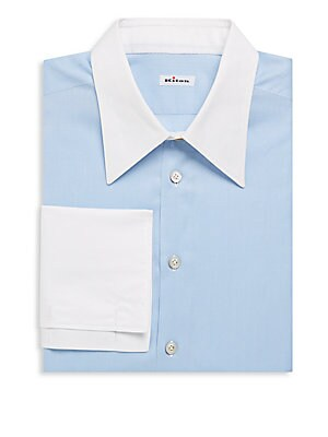Two-Tone Cotton Dress Shirt
