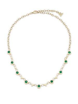 Bellina Diamond, Peridot, Emerald & 18K Yellow Gold Pendant