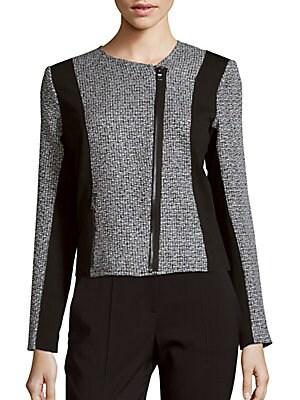 Colorblocked Tweed Jacket