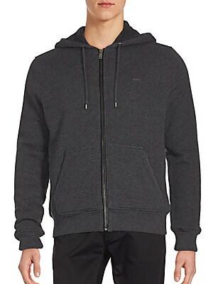 michael kors male waffle long sleeve hoodie