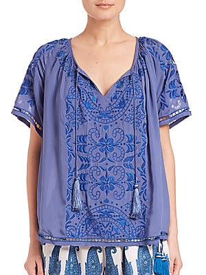 Earlba Embroidered Top