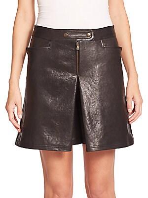 Leather Overlay Shorts