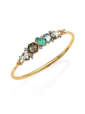 Small Crystal Mosaic Hinge Bracelet