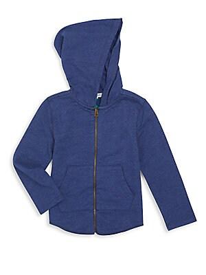 Knit Zip-Front Hoodie