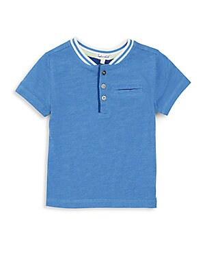 Toddler's & Little Boy's Short Sleeve Henley Pocket Tee