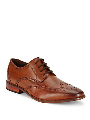 Leather Wingtip Dress Shoes