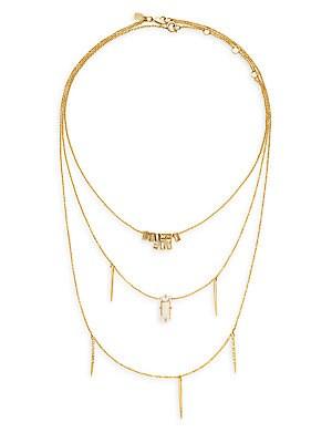 Miss Havisham Trio Chain Crystal Necklace