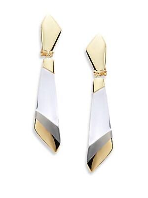 Lucite Colorblock Drop Earrings
