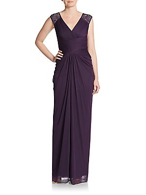 Shirred Column Gown