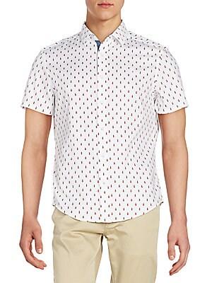 Pineapple-Print Sportshirt