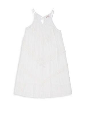 Gilr's Crochet Trim Dress