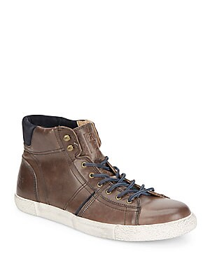 Bedford Leather High-Top Sneakers