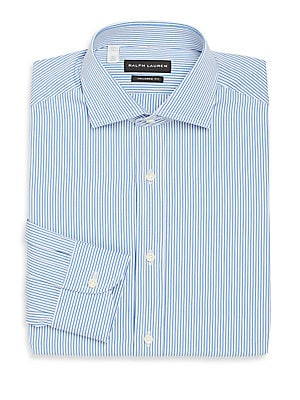 Tailored-Fit Striped Cotton Dress Shirt
