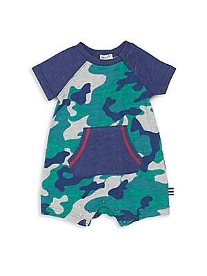 Baby's Camo-Print Cotton & Modal Shortalls