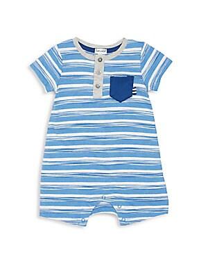 Baby's Space Dye Stripe Romper