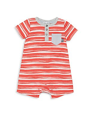 Baby's Striped Henley Shortalls
