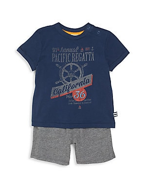 Baby's Two-Piece Graphic Tee & Shorts Set