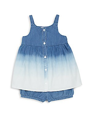 Baby's Beach Out Denim Dress & Bloomers Set