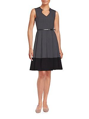 Colorblock Sleeveless Dress
