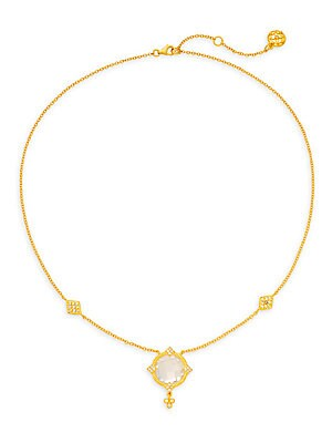 Mirror Crystal Pendant Necklace