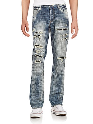 Hydrus Demon Ripped Crosshatch Jeans