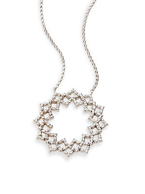 Click here for Diamond & 14K White Gold Flower Pendant Necklace prices