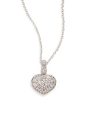 Click here for Diamond & 14K White Gold Heart Pendant Necklace prices