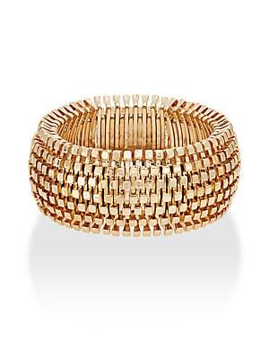 Square Beaded Stretch Cuff Bracelet