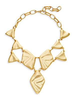 Triangle & Diamond Bib Necklace