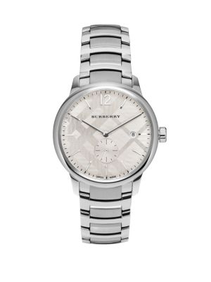 Round Stainless Steel Watch Burberry