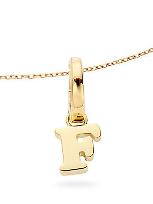 Click here for Ippolitini 18K Yellow Gold F Charm Pendant prices