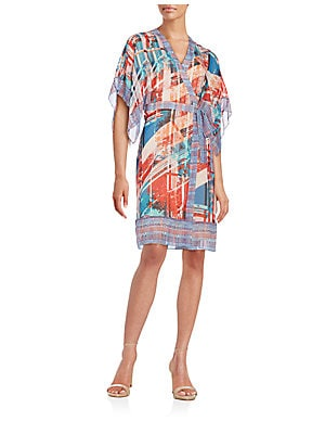 Krystie Printed Silk Wrap Dress