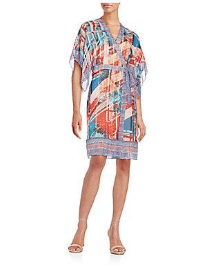 Krystie Printed Silk Wrap Dress