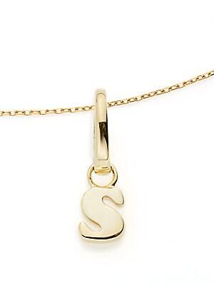 S Charm Pendant Necklace