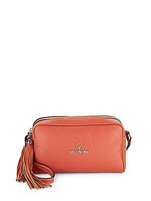 Mila Zippered Leather Crossbody Bag