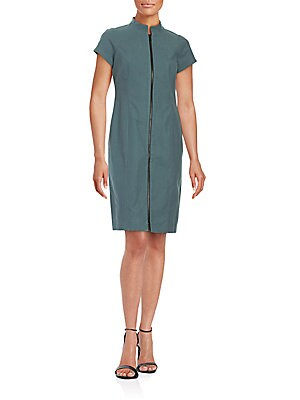 Camber Solid Sheath Dress