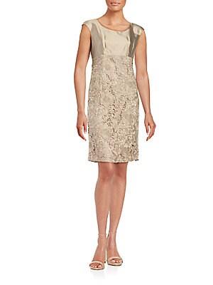 Cotton & Silk Roundneck Dress