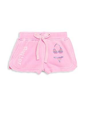 Little Girl's Rhinestone Bikini Shorts