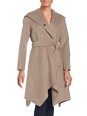Sofia Hooded Wool-Blend Coat