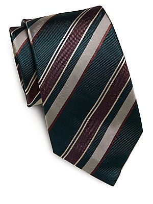 Multistriped Silk Tie