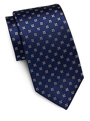 Neat Floral Silk Tie